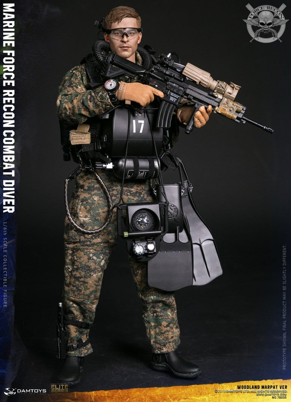 DamToys - NEW PRODUCT: DAM Toys: Marine Force Recon Combat Diver (Desert MARPAT) (GIDAM-78056) & (Woodland MARPAT) (GIDAM-78055) 1525