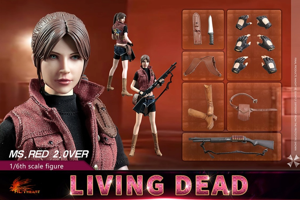 female - NEW PRODUCT: Hot Heart: 1/6 movable doll zombie female killer Ms.Red girl version (FD008) 15344410