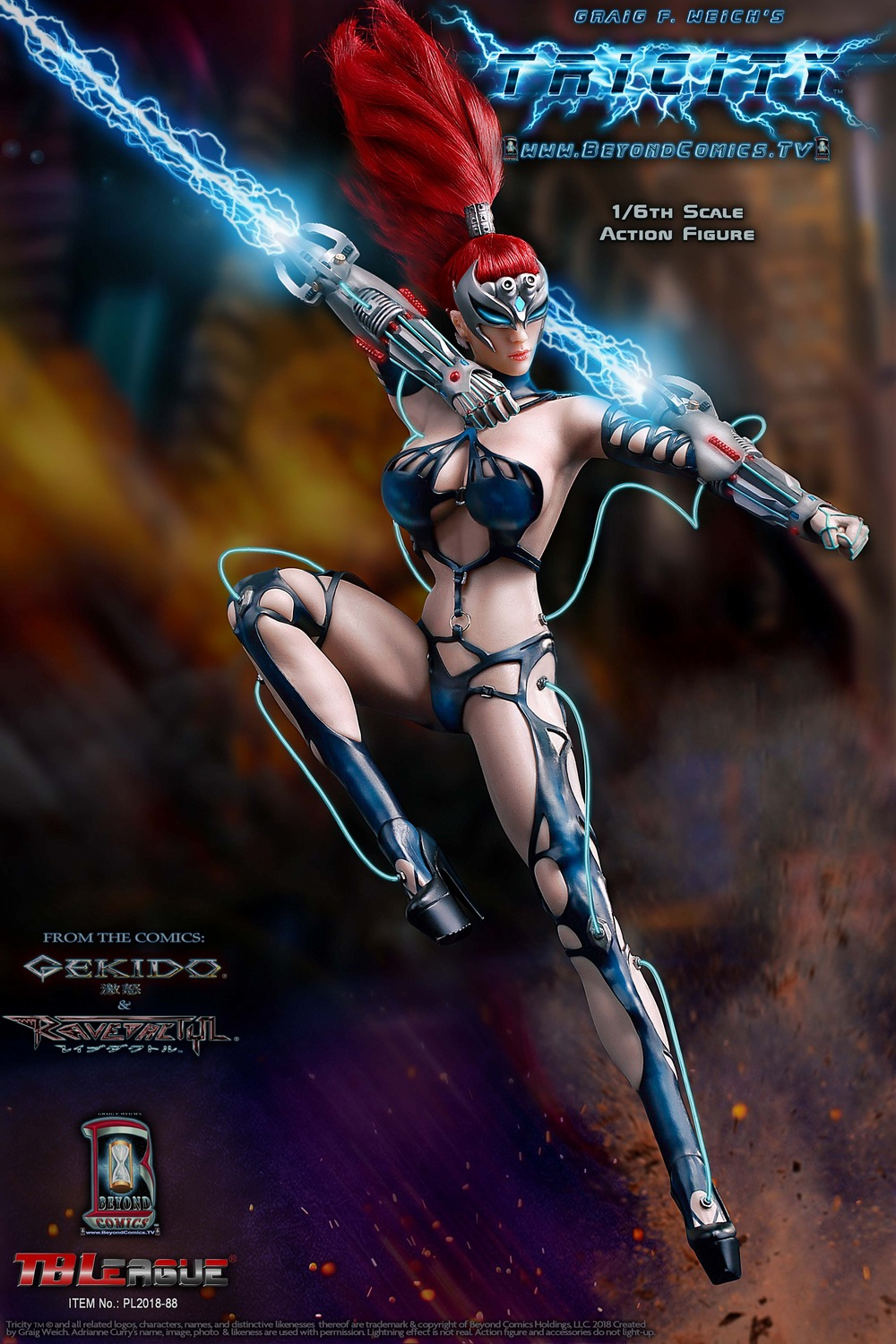 cosplay - NEW PRODUCT: TBLeague new product: 1/6 lightning goddess - Cui Si / TRICITY-Goddess of Lightning (PL2018-88#) 15380110