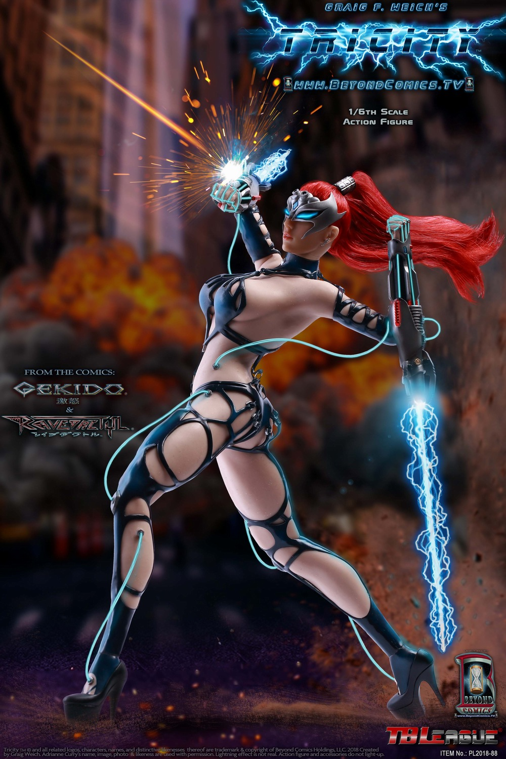 cosplay - NEW PRODUCT: TBLeague new product: 1/6 lightning goddess - Cui Si / TRICITY-Goddess of Lightning (PL2018-88#) 15380410