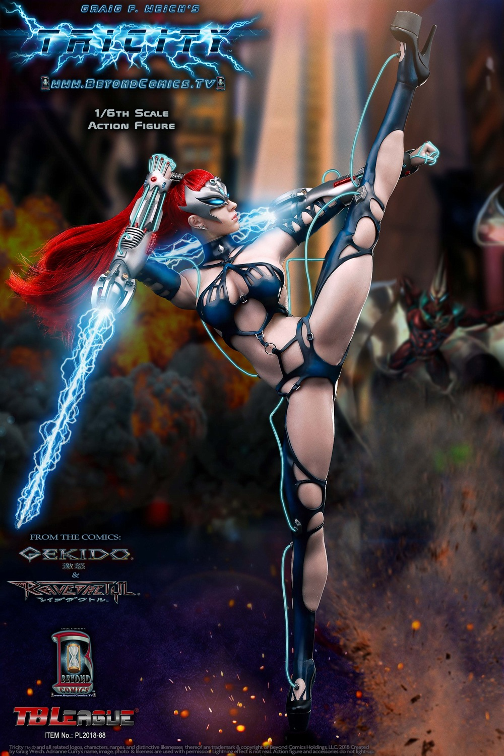 cosplay - NEW PRODUCT: TBLeague new product: 1/6 lightning goddess - Cui Si / TRICITY-Goddess of Lightning (PL2018-88#) 15380810