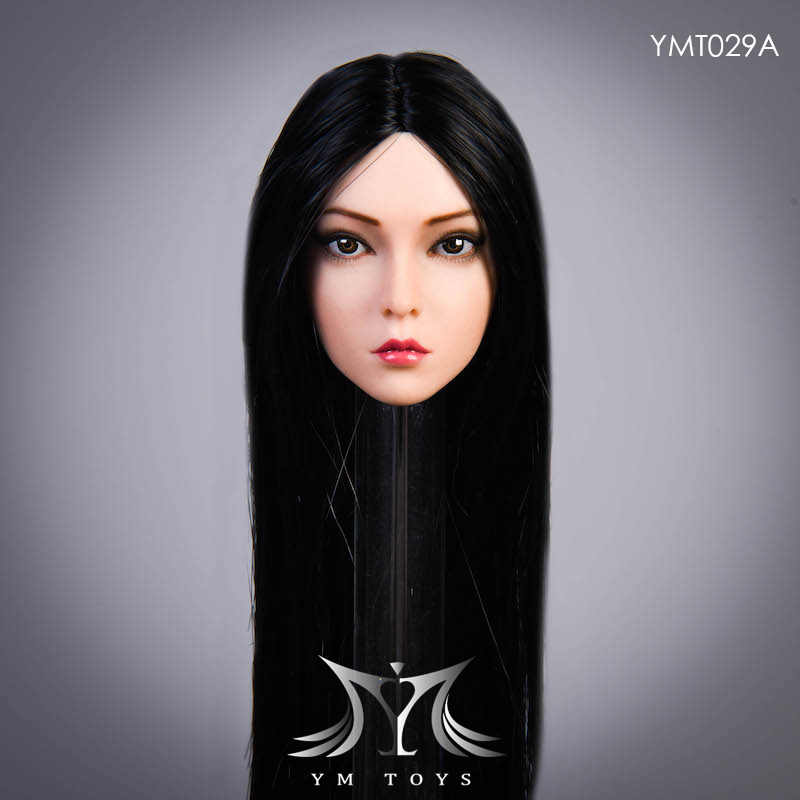 female - NEW PRODUCT:  YMTOYS: 1 / 6 head carved rose hair female head carving  15423411
