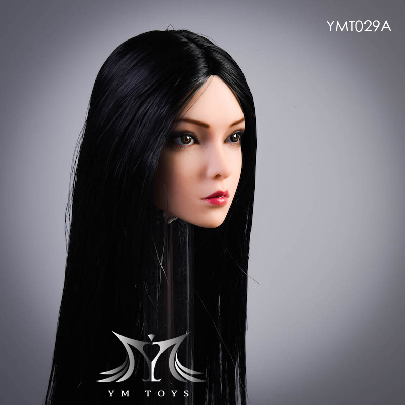 female - NEW PRODUCT:  YMTOYS: 1 / 6 head carved rose hair female head carving  15423612