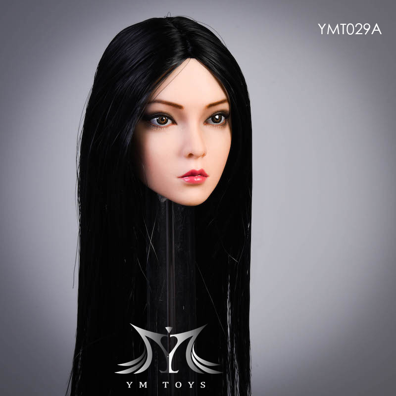 female - NEW PRODUCT:  YMTOYS: 1 / 6 head carved rose hair female head carving  15423613