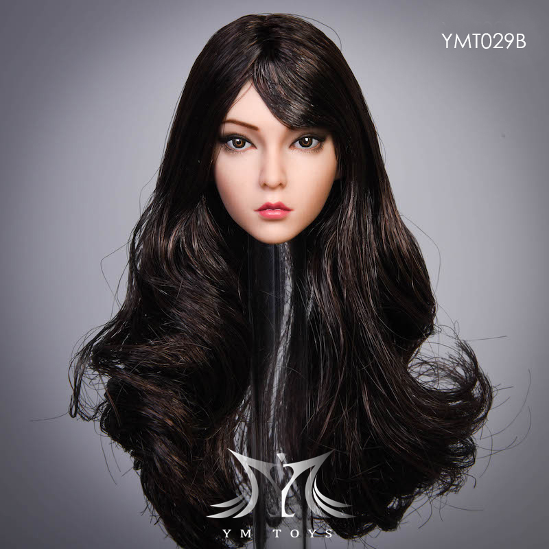 female - NEW PRODUCT:  YMTOYS: 1 / 6 head carved rose hair female head carving  15423710