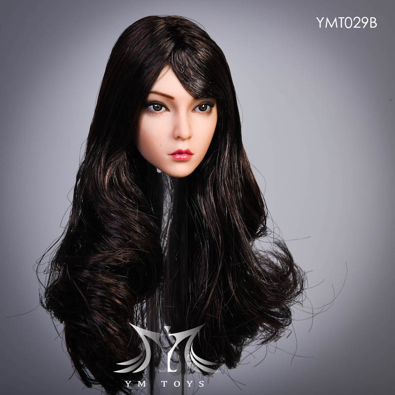 female - NEW PRODUCT:  YMTOYS: 1 / 6 head carved rose hair female head carving  15423810