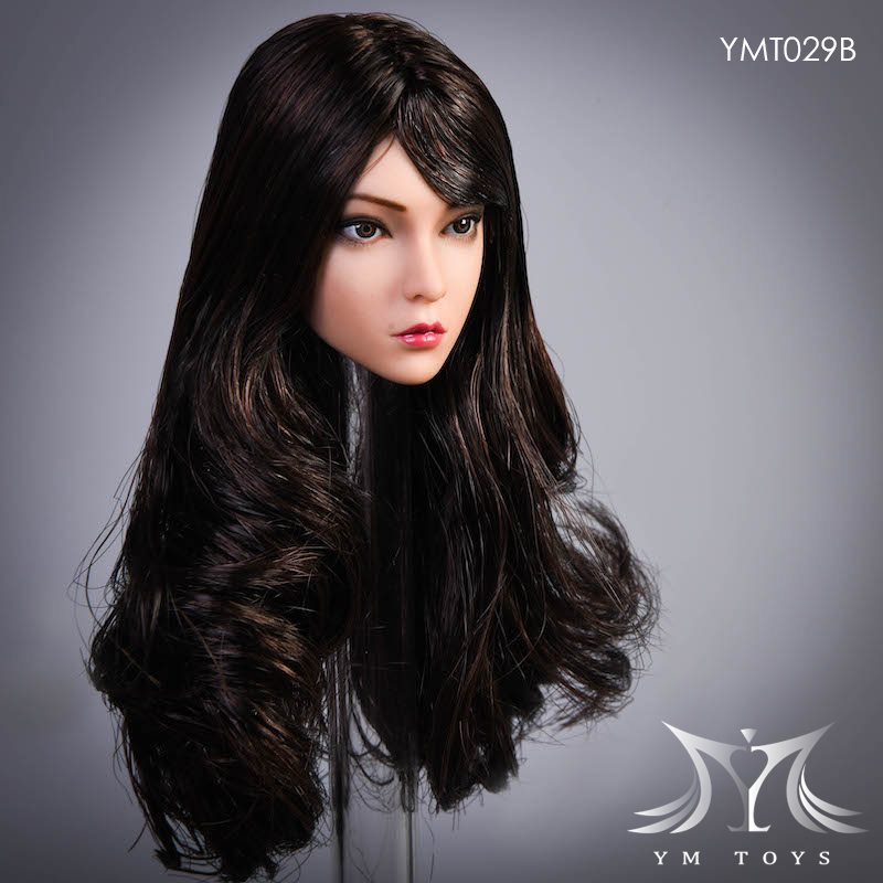 female - NEW PRODUCT:  YMTOYS: 1 / 6 head carved rose hair female head carving  15423910