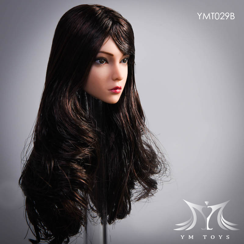 female - NEW PRODUCT:  YMTOYS: 1 / 6 head carved rose hair female head carving  15423911