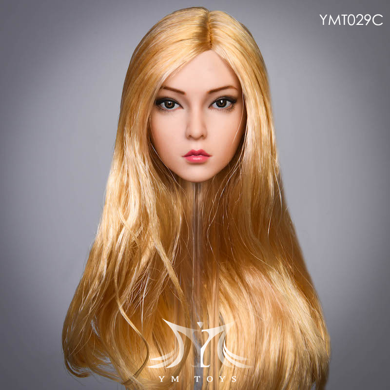 female - NEW PRODUCT:  YMTOYS: 1 / 6 head carved rose hair female head carving  15424011