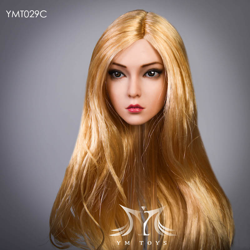 female - NEW PRODUCT:  YMTOYS: 1 / 6 head carved rose hair female head carving  15424110