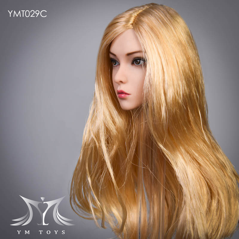female - NEW PRODUCT:  YMTOYS: 1 / 6 head carved rose hair female head carving  15424210