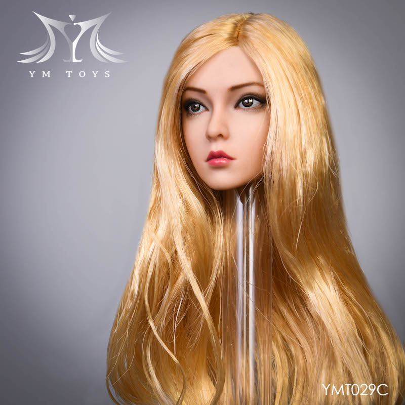 female - NEW PRODUCT:  YMTOYS: 1 / 6 head carved rose hair female head carving  15424310