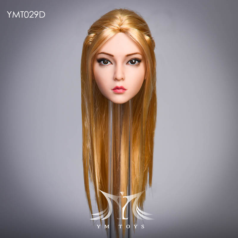 female - NEW PRODUCT:  YMTOYS: 1 / 6 head carved rose hair female head carving  15424311
