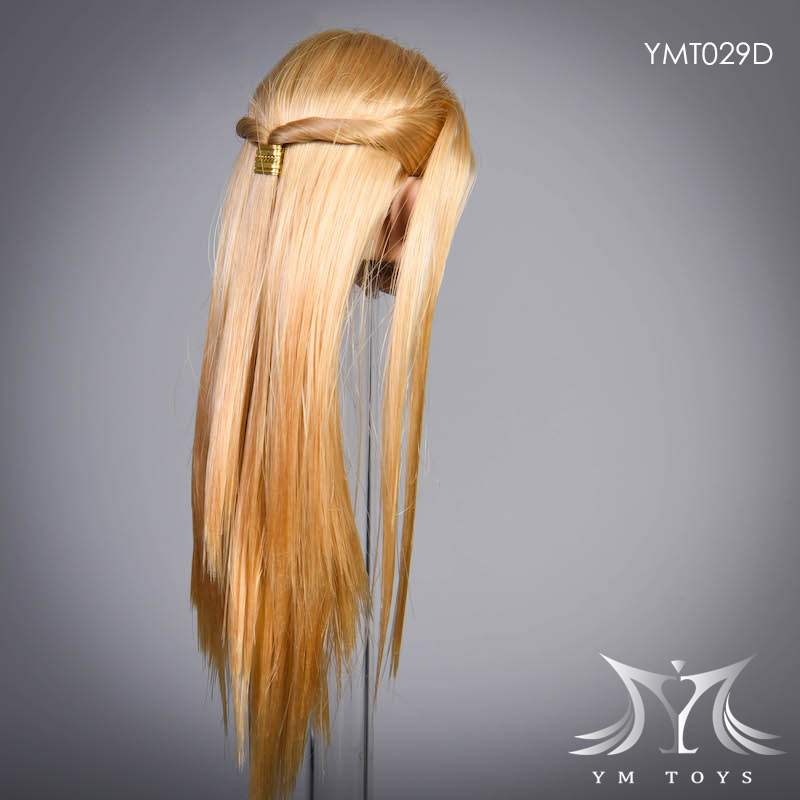female - NEW PRODUCT:  YMTOYS: 1 / 6 head carved rose hair female head carving  15424410