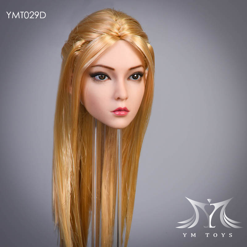 female - NEW PRODUCT:  YMTOYS: 1 / 6 head carved rose hair female head carving  15424510