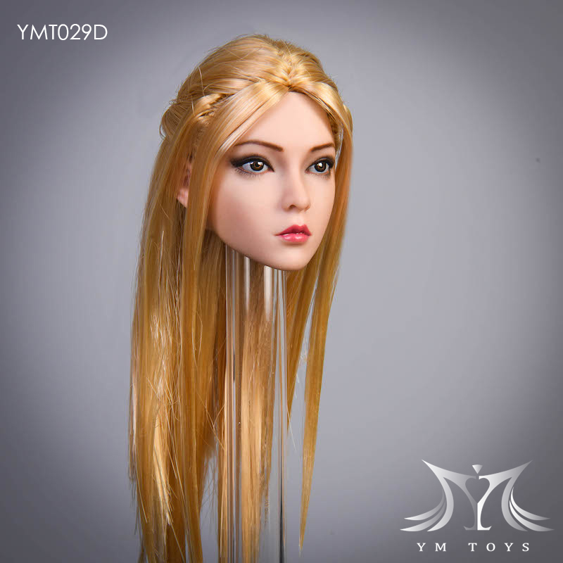 female - NEW PRODUCT:  YMTOYS: 1 / 6 head carved rose hair female head carving  15424511