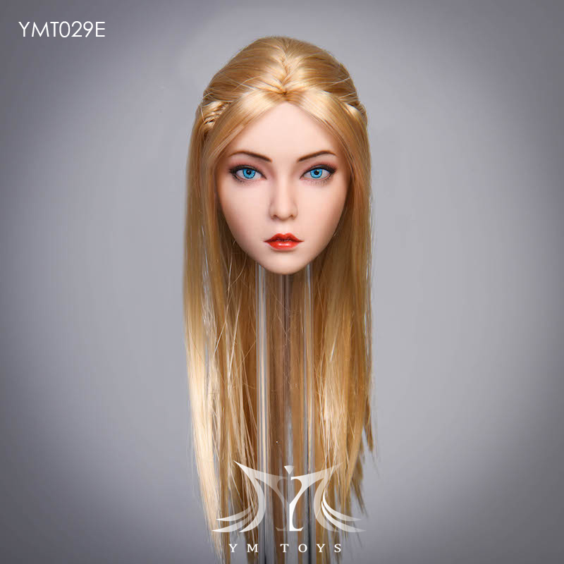 female - NEW PRODUCT:  YMTOYS: 1 / 6 head carved rose hair female head carving  15424610