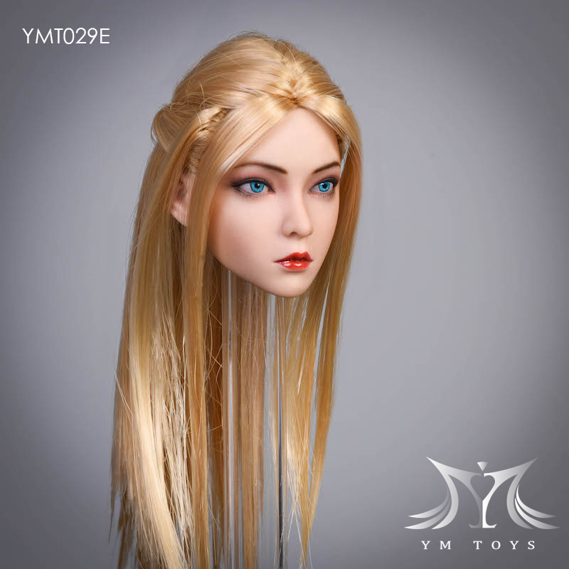 female - NEW PRODUCT:  YMTOYS: 1 / 6 head carved rose hair female head carving  15424611