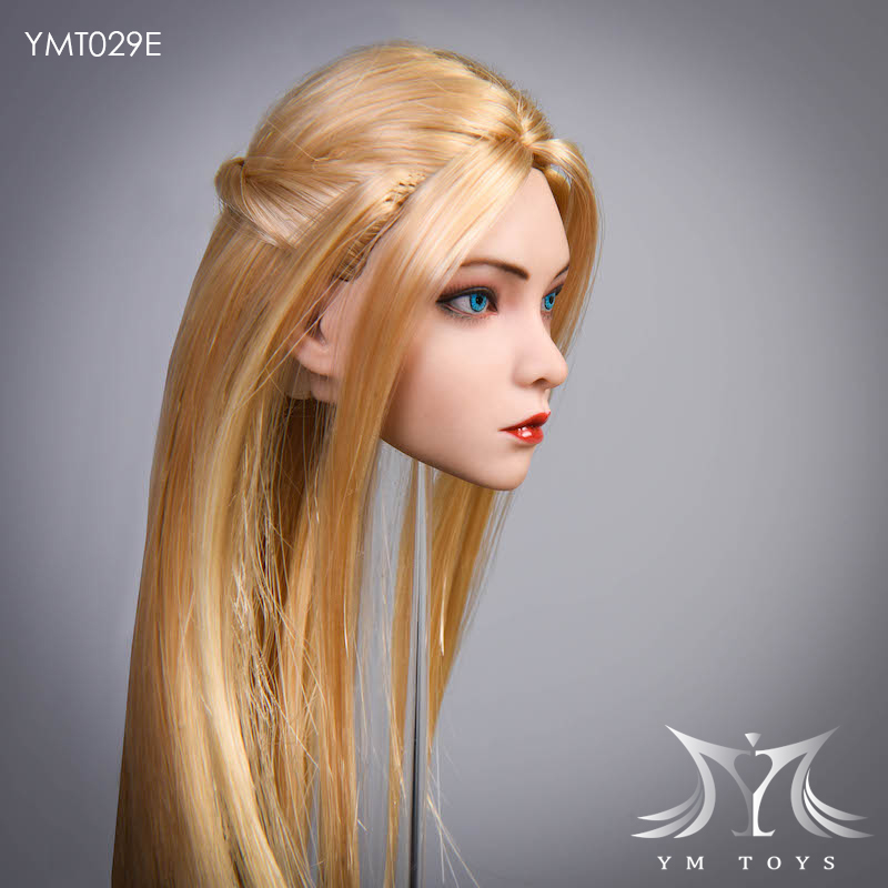 female - NEW PRODUCT:  YMTOYS: 1 / 6 head carved rose hair female head carving  15424710