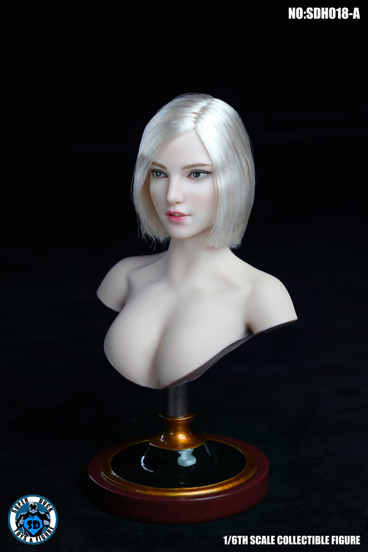 female - NEW PRODUCT: SUPER DUCK: 1/6 SDH018 Female head carving - ABC three models 15433011