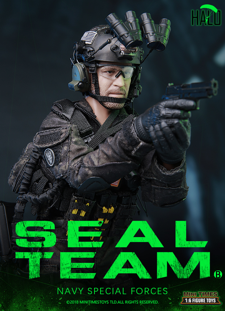 "Dog - NEW PRODUCT: MINI TIMES TOYS US NAVY SEAL TEAM SPECIAL FORCES ""HALO"" 1/6 SCALE ACTION FIGURE MT-M013 1547"