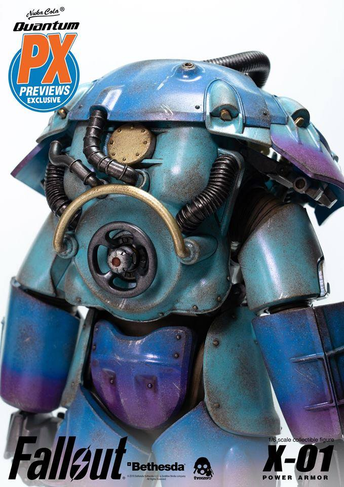 "Fallout - NEW PRODUCT: Three Zero Exclusive 1/6th scale X-01 ""Quantum"" Power Armor 14.5-inch Figure Set 1565"