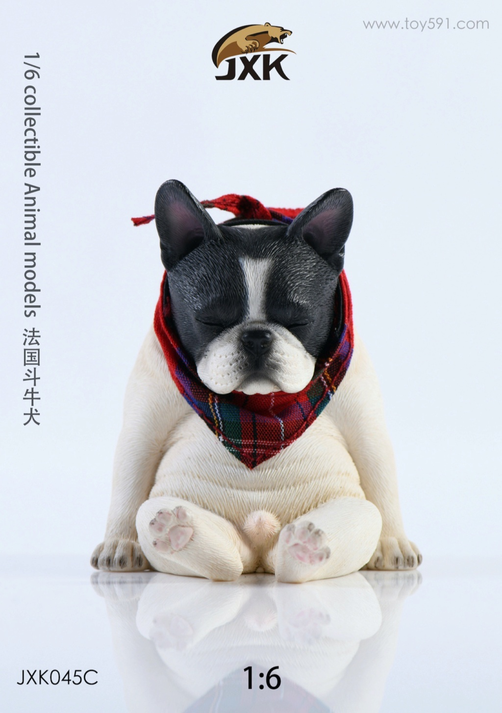 Dog - NEW PRODUCT: JXK 1/6 Decadent Dog JXK045 French Bulldog + Scarf 15adb910
