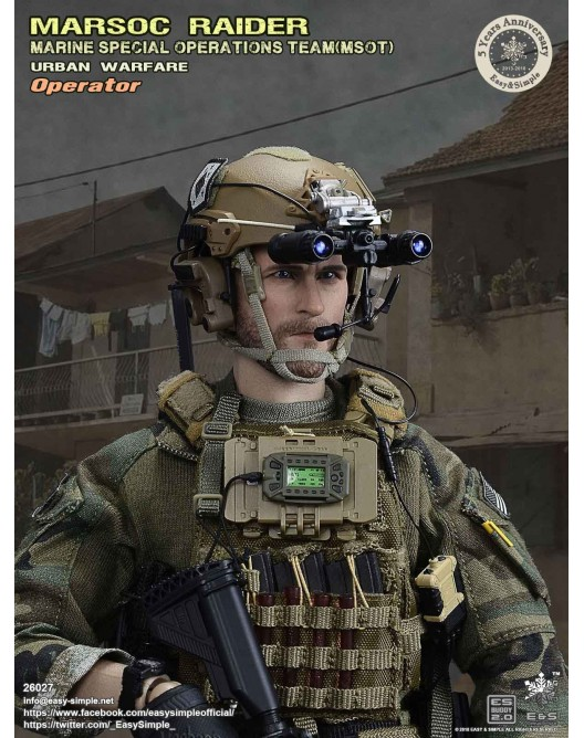 NEW PRODUCT: Easy & Simple 26027 1/6 Scale MARSOC Raider Urban Warfare Operator 16-52810