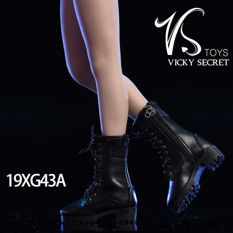 female - NEW PRODUCT: VSTOYS 1/6 zipper boots 19XG43 leather boots female soldier doll hollow boots 16075914