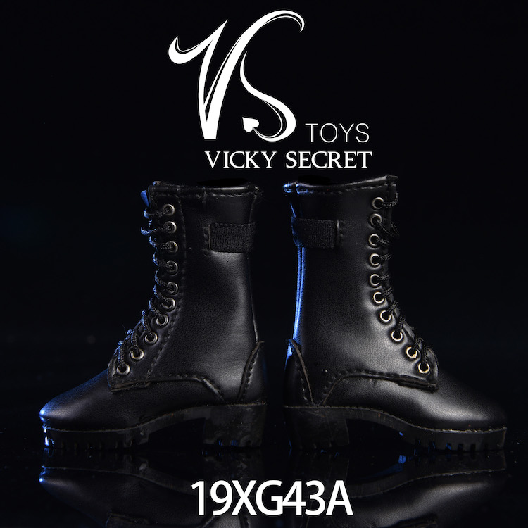 female - NEW PRODUCT: VSTOYS 1/6 zipper boots 19XG43 leather boots female soldier doll hollow boots 16075915