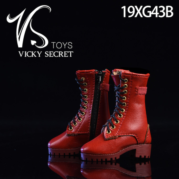 female - NEW PRODUCT: VSTOYS 1/6 zipper boots 19XG43 leather boots female soldier doll hollow boots 16080113