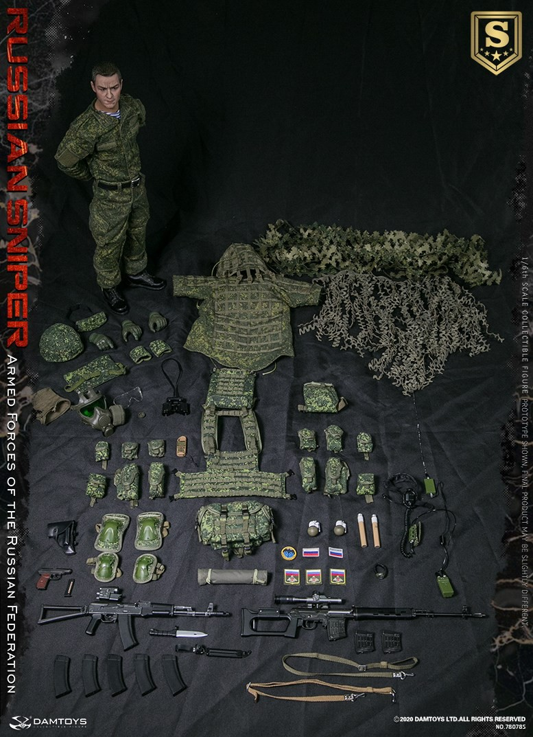 modernmilitary - NEW PRODUCT: DAMTOYS: 1/6 Russian Armed Forces-Russian Sniper Special Edition 78078S / Elite Edition 78078 16091510