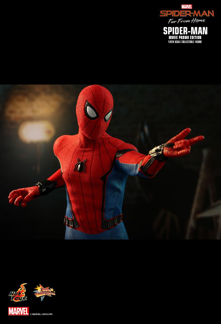marvel - NEW PRODUCT: HOT TOYS: SPIDER-MAN: FAR FROM HOME SPIDER-MAN (MOVIE PROMO EDITION) 1/6TH SCALE COLLECTIBLE FIGURE 16106