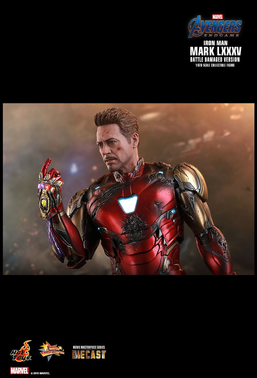 BattleDamaged - NEW PRODUCT: HOT TOYS: AVENGERS: ENDGAME IRON MAN MARK LXXXV (BATTLE DAMAGED VERSION) 1/6TH SCALE COLLECTIBLE FIGURE 16115