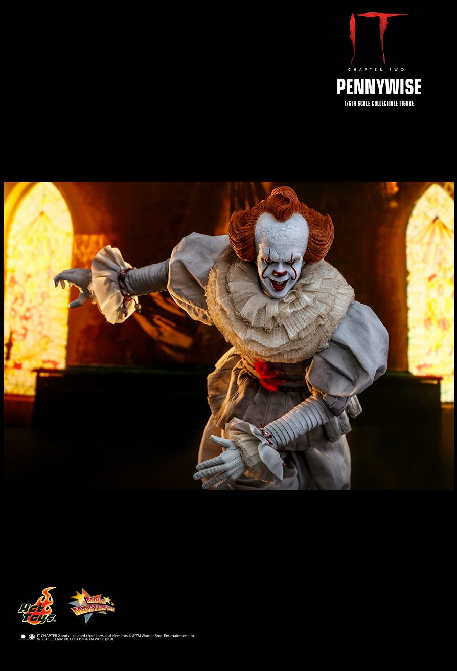 NEW PRODUCT: HOT TOYS: IT CHAPTER TWO PENNYWISE 1/6TH SCALE COLLECTIBLE FIGURE 16124