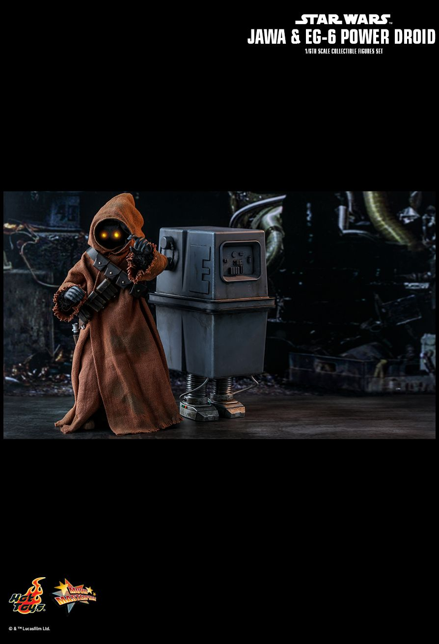 NEW PRODUCT: HOT TOYS: STAR WARS: EPISODE IV A NEW HOPE JAWA & EG-6 POWER DROID 1/6TH SCALE COLLECTIBLE SET 16125