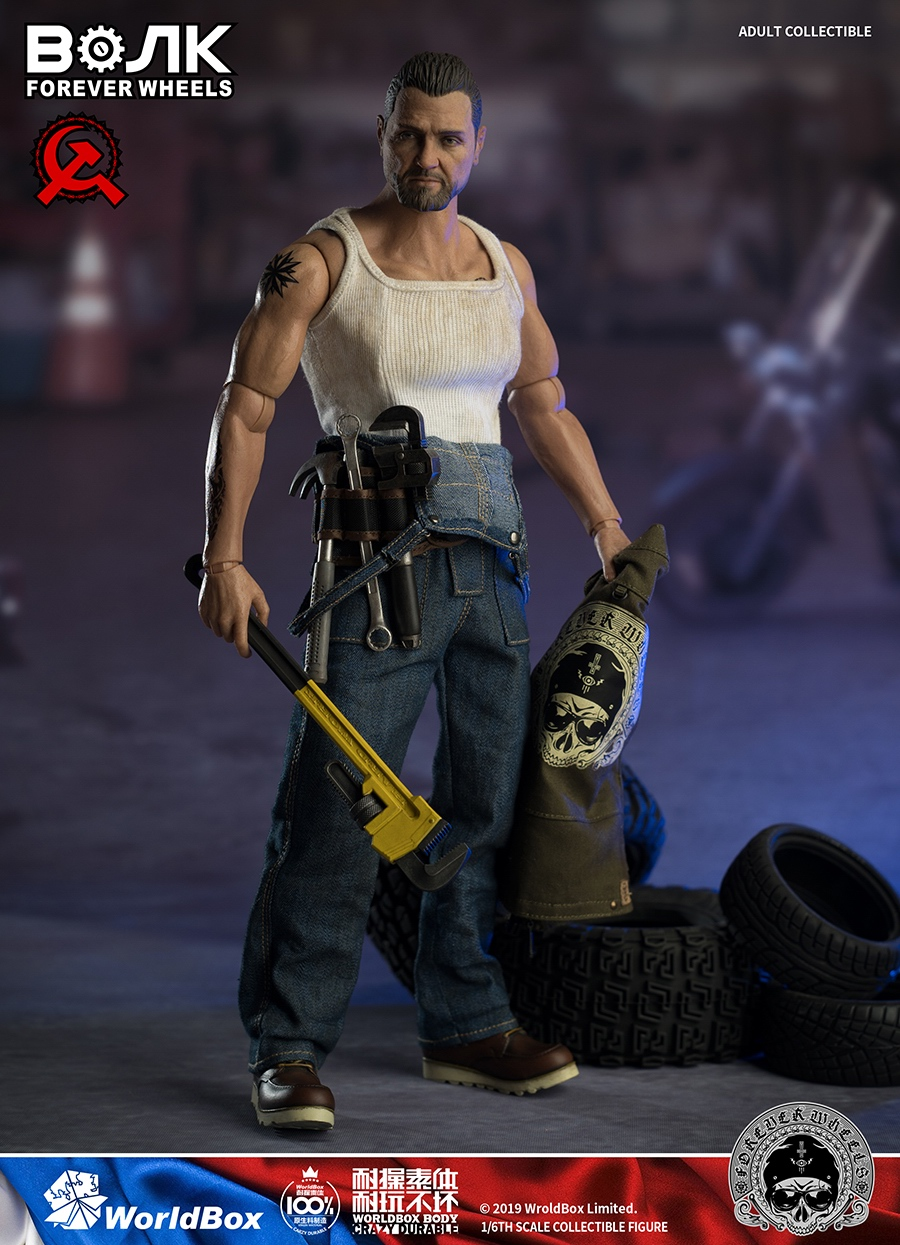 male - NEW PRODUCT: Worldbox: 1/6 Motor Mechanic / Machine Repair Mobile Action AT031# 16143610