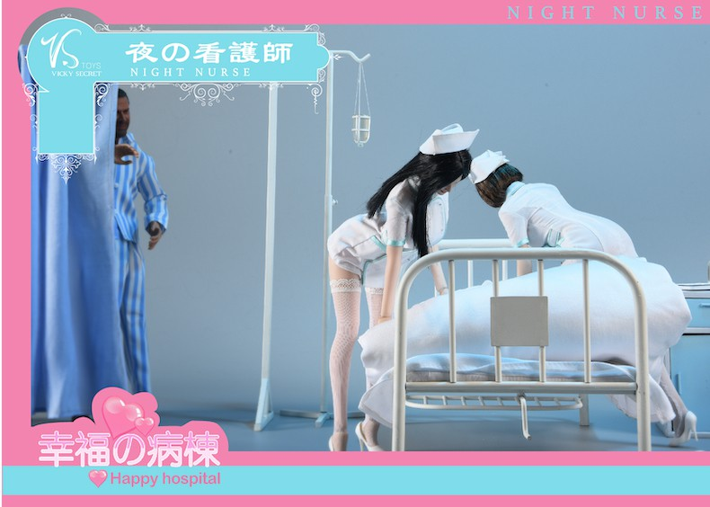 Diorama - NEW PRODUCT: VSToys: 1/6 happy hospital bed nurse scene suit hospital scene soldier doll  16153210