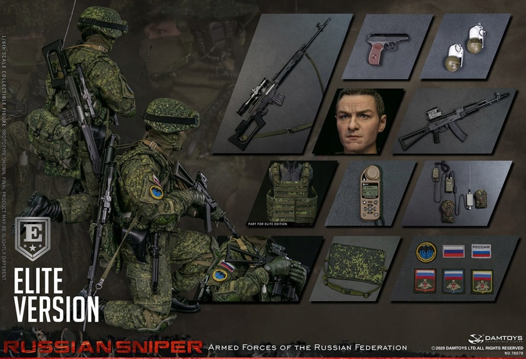 modernmilitary - NEW PRODUCT: DAMTOYS: 1/6 Russian Armed Forces-Russian Sniper Special Edition 78078S / Elite Edition 78078 16173110