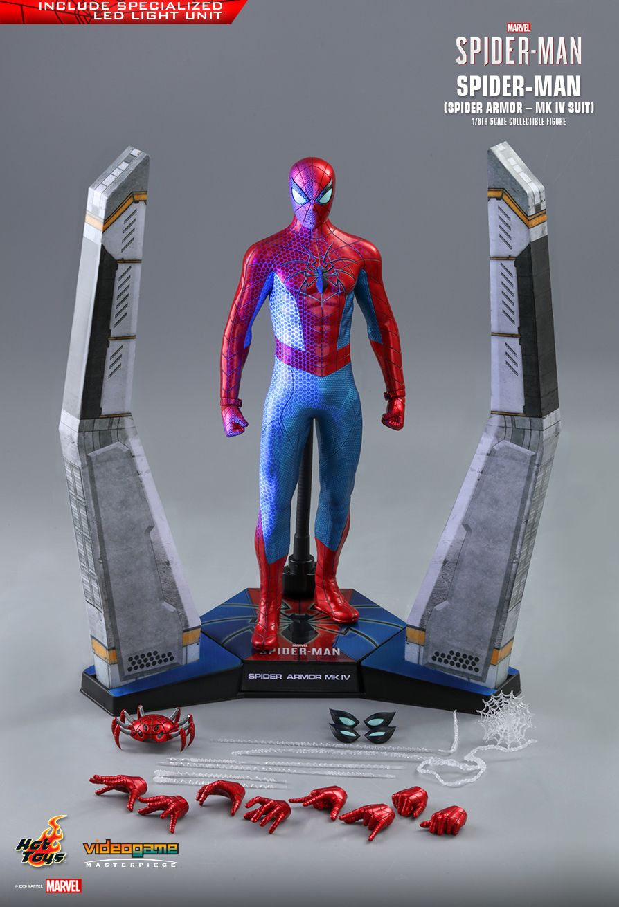 videogame - NEW PRODUCT: HOT TOYS: SPIDER-MAN (SPIDER ARMOR - MK IV SUIT) MARVEL'S SPIDER-MAN 1/6TH SCALE COLLECTIBLE FIGURE 16178