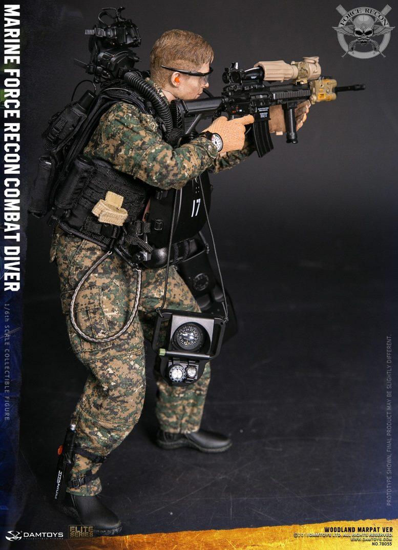 DamToys - NEW PRODUCT: DAM Toys: Marine Force Recon Combat Diver (Desert MARPAT) (GIDAM-78056) & (Woodland MARPAT) (GIDAM-78055) 1625