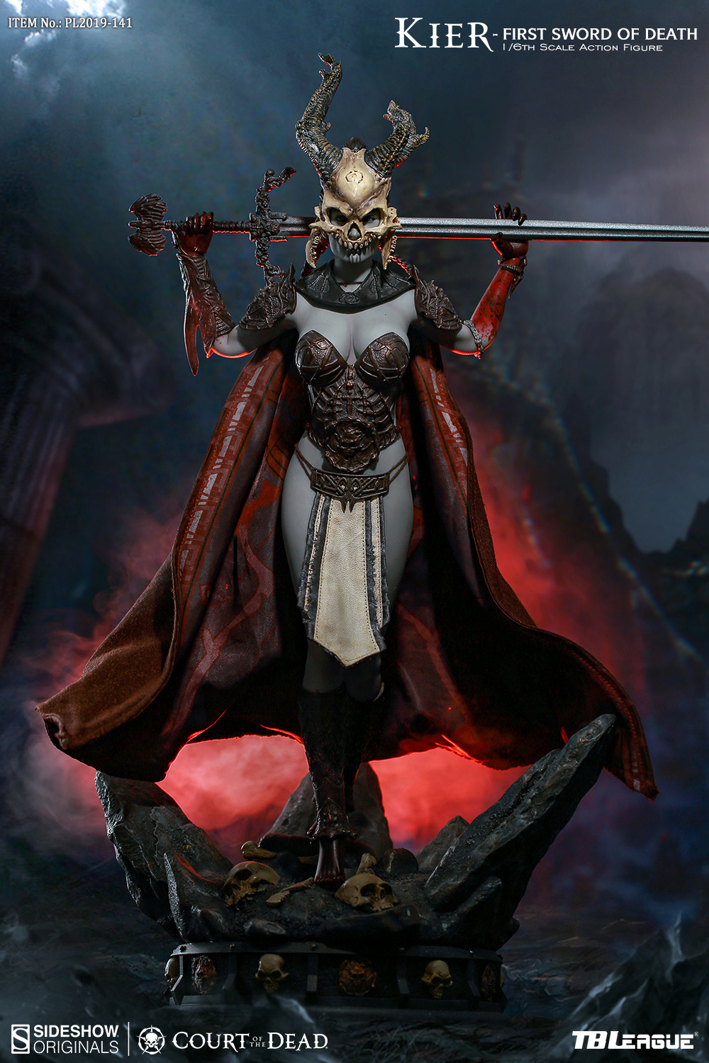 horror - NEW PRODUCT: TBLeague & Sideshow: 1/6 Court of the Dead - Valkyrie Cole / Kier movable doll (PL2019-141) 16260310