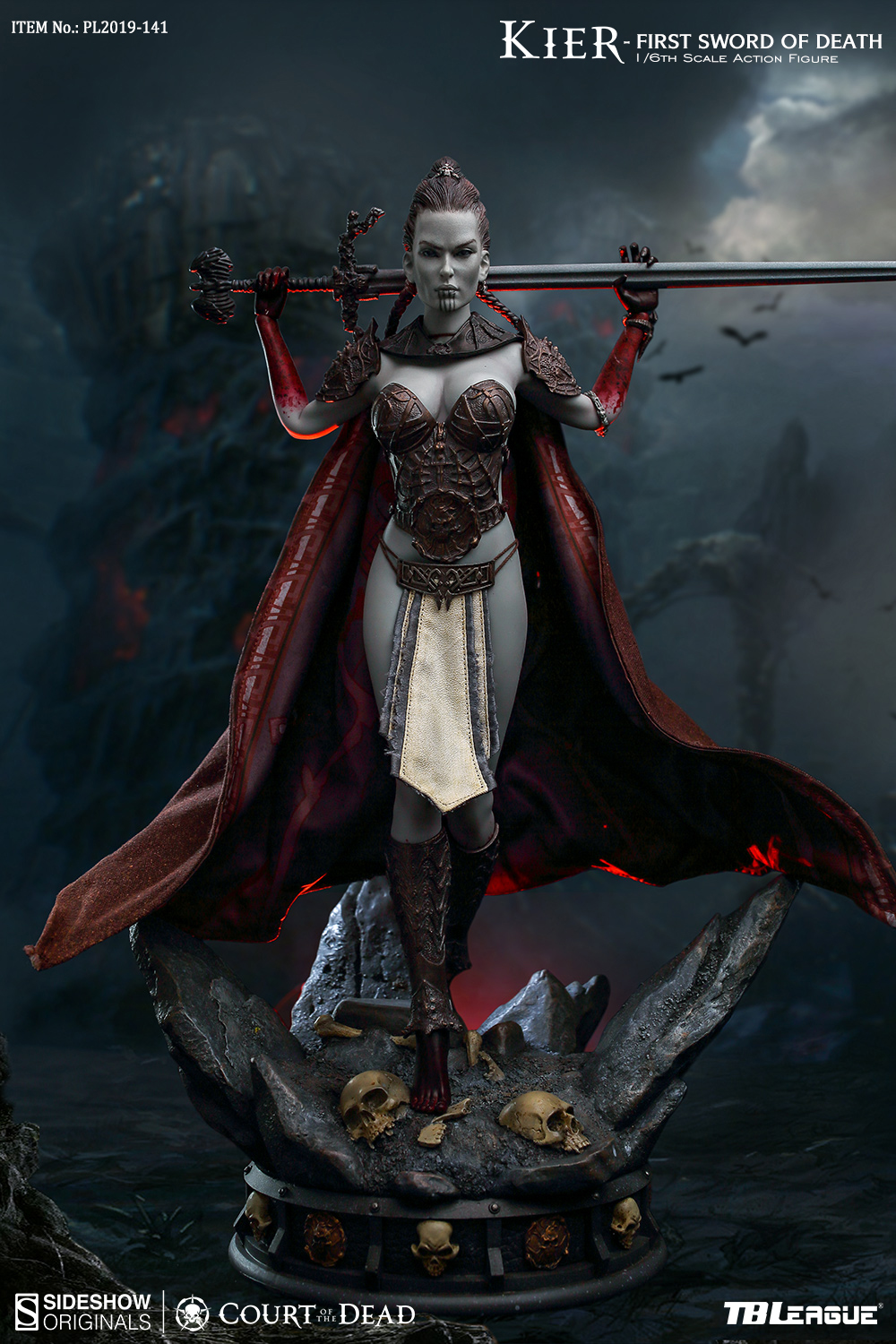 horror - NEW PRODUCT: TBLeague & Sideshow: 1/6 Court of the Dead - Valkyrie Cole / Kier movable doll (PL2019-141) 16260410