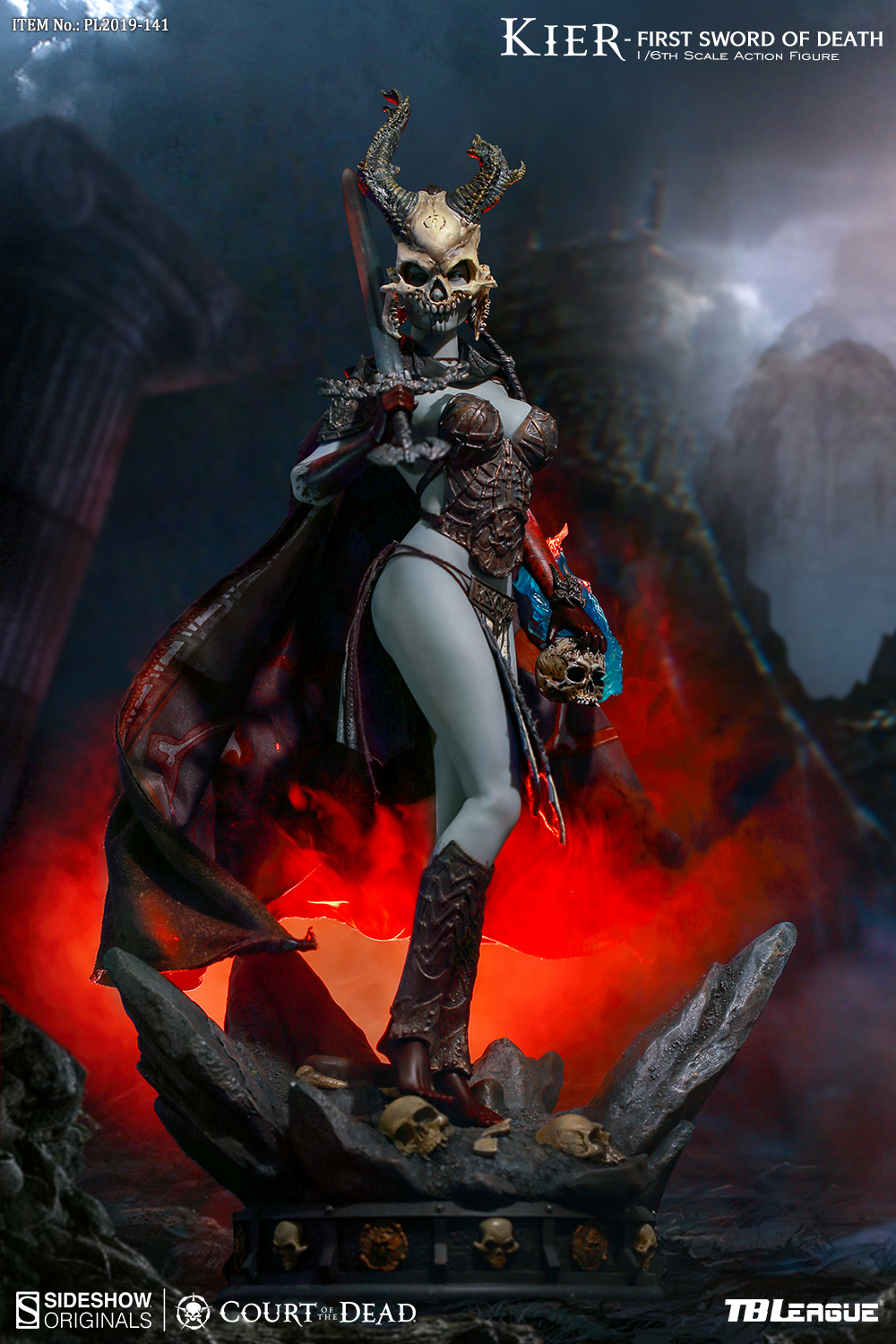horror - NEW PRODUCT: TBLeague & Sideshow: 1/6 Court of the Dead - Valkyrie Cole / Kier movable doll (PL2019-141) 16260510