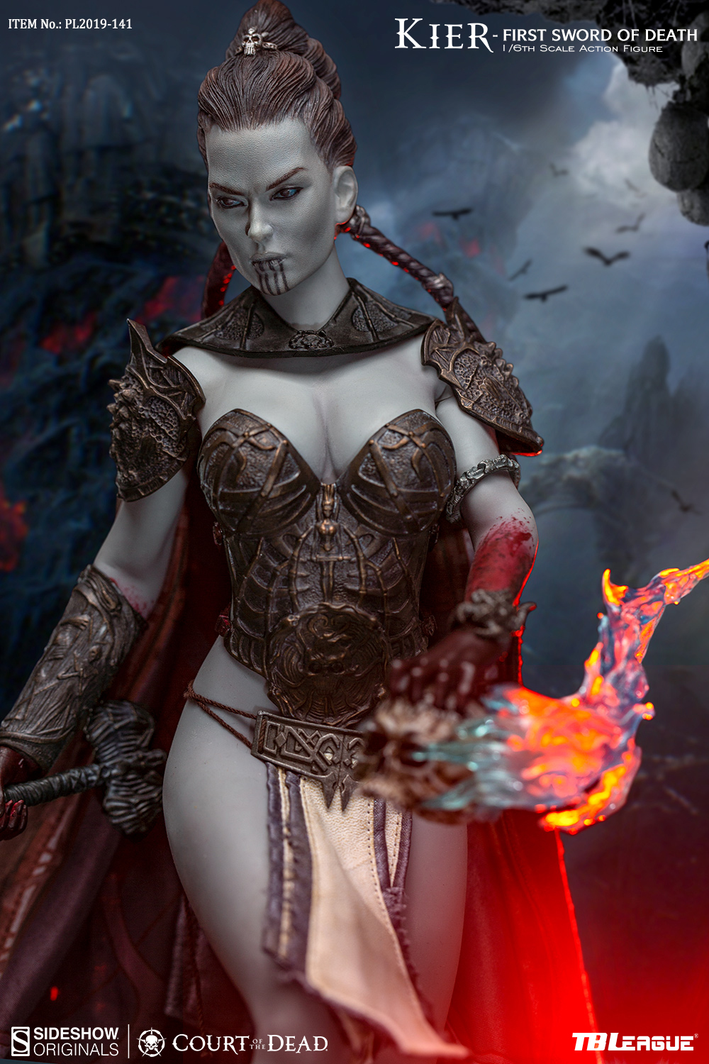 horror - NEW PRODUCT: TBLeague & Sideshow: 1/6 Court of the Dead - Valkyrie Cole / Kier movable doll (PL2019-141) 16260911