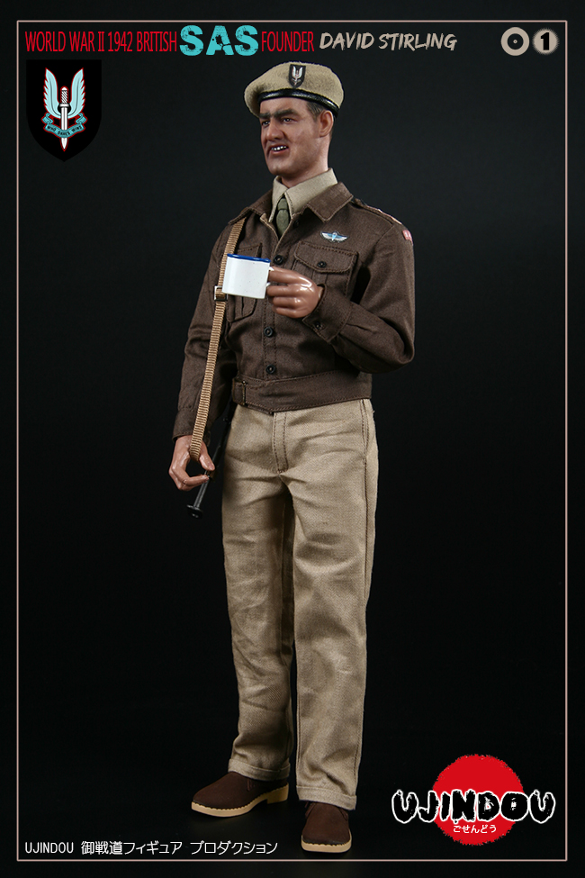 SpecialAirService - NEW PRODUCT: [New Brand] Yuzhan Road UJINDOU: 1/6 World War II British Royal Special Air Service SAS-Founder. David Sterling 1942 16303011