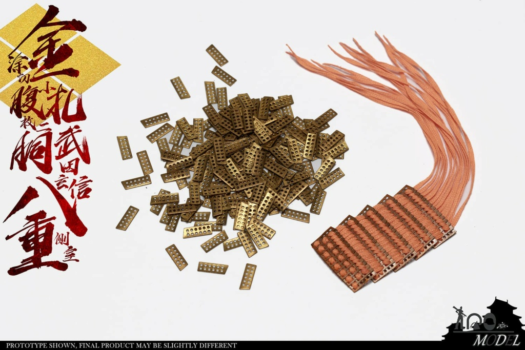IQOModel - NEW PRODUCT: IQOMODEL: 1/6 [100% full copper] Takeda Shingen's side room with eight heavy gold-coated cuts and two small pieces of carcass NO.91005A/B  16303111