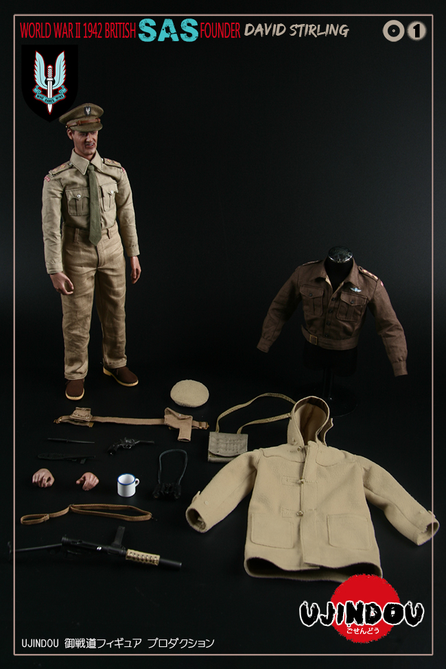 SpecialAirService - NEW PRODUCT: [New Brand] Yuzhan Road UJINDOU: 1/6 World War II British Royal Special Air Service SAS-Founder. David Sterling 1942 16392410