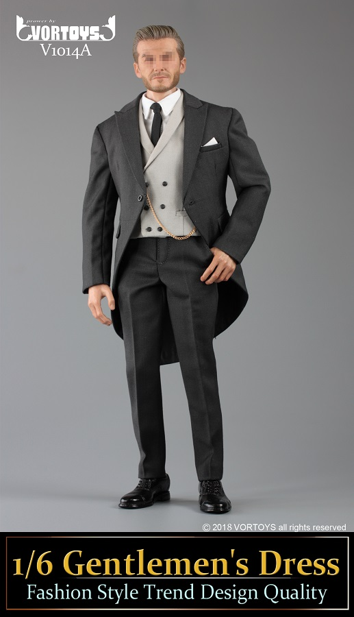 NEW PRODUCT: VORTOYS New Products: 1/6 British Gentleman Suit Dress Set - Royal Wedding Tricolor (V1014) 16452310