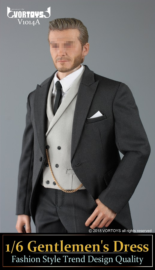 NEW PRODUCT: VORTOYS New Products: 1/6 British Gentleman Suit Dress Set - Royal Wedding Tricolor (V1014) 16455311